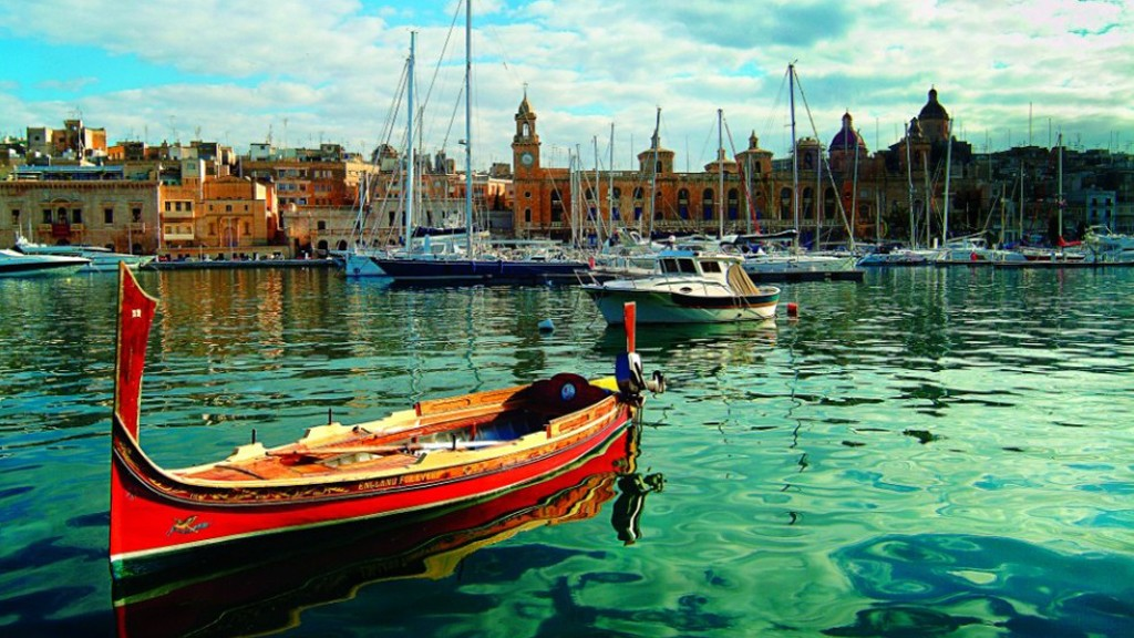 Boats floating on the water in Malta