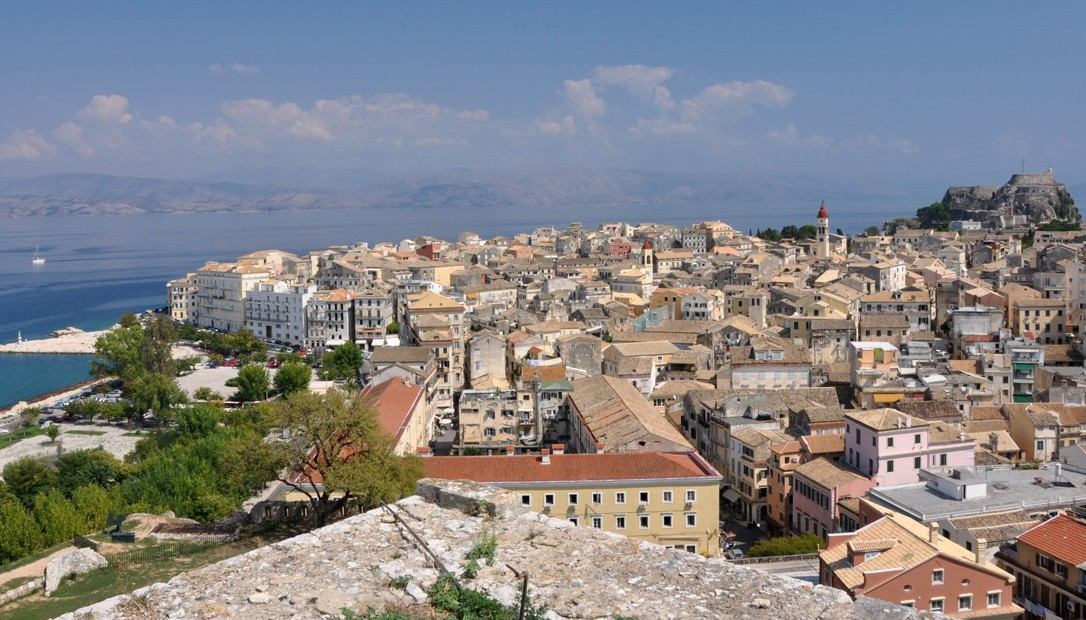 image of the old town of Corfu