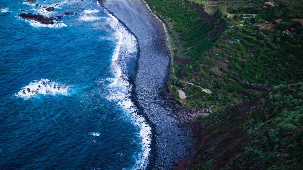 A rocky beach in Tenerife