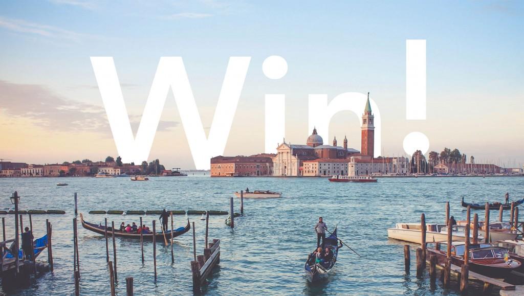 Free flights prize draw, Venice.