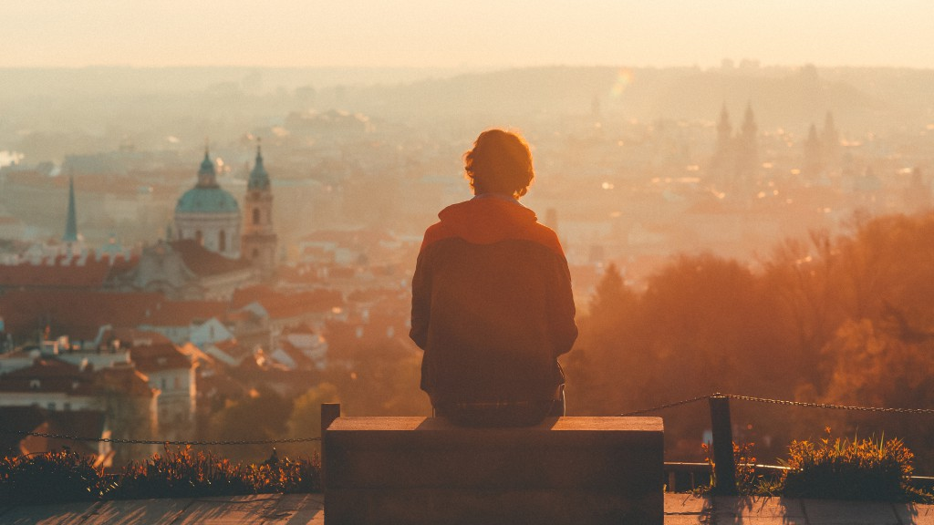 A man enjoying the view of Prague