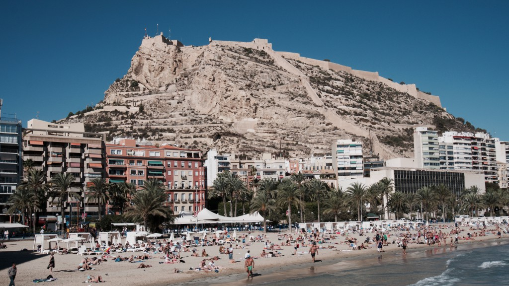 Beach and mountain in Alicante