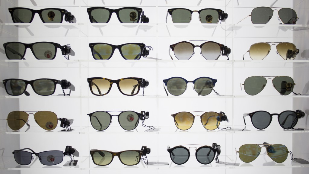Many pairs of sunglasses.