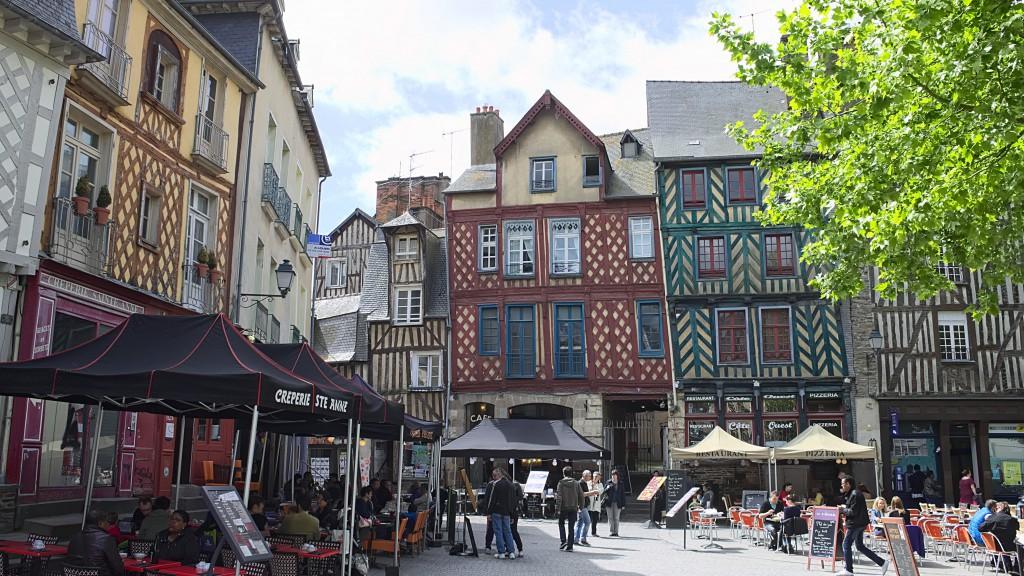 A street scene in Rennes