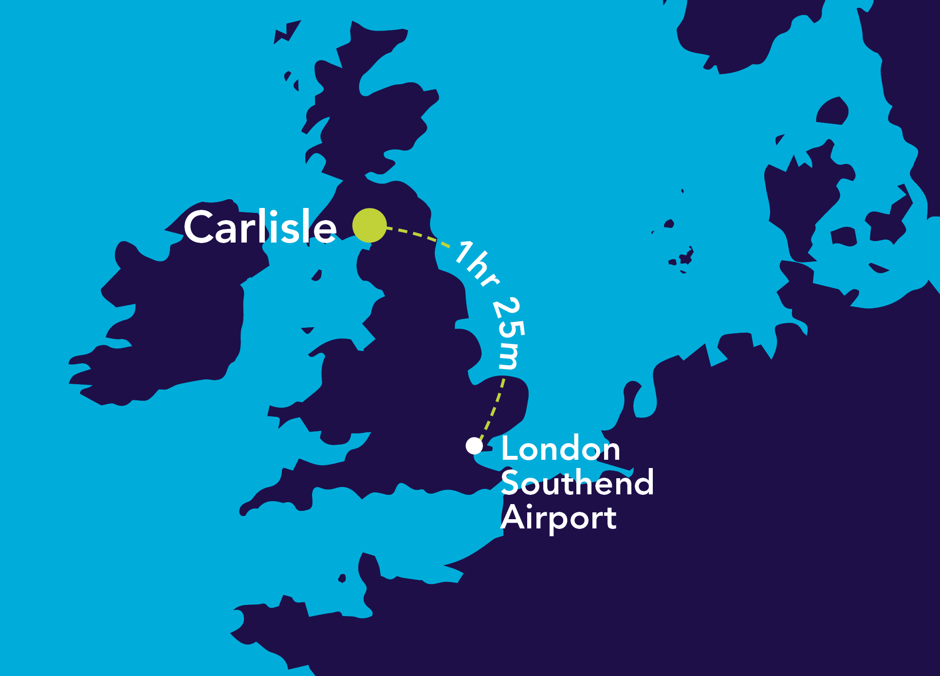 Image of London Southend Airport to Carlisle