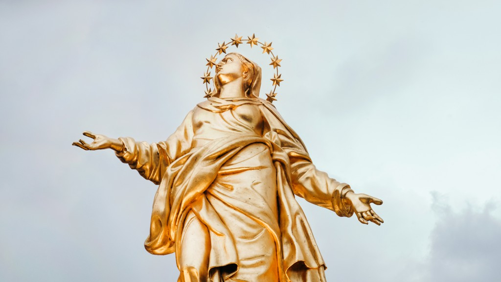 A golden statue in Milan